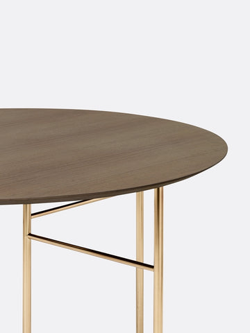 Round Mingle Table Top in Dark Veneer 130 cm by Ferm Living