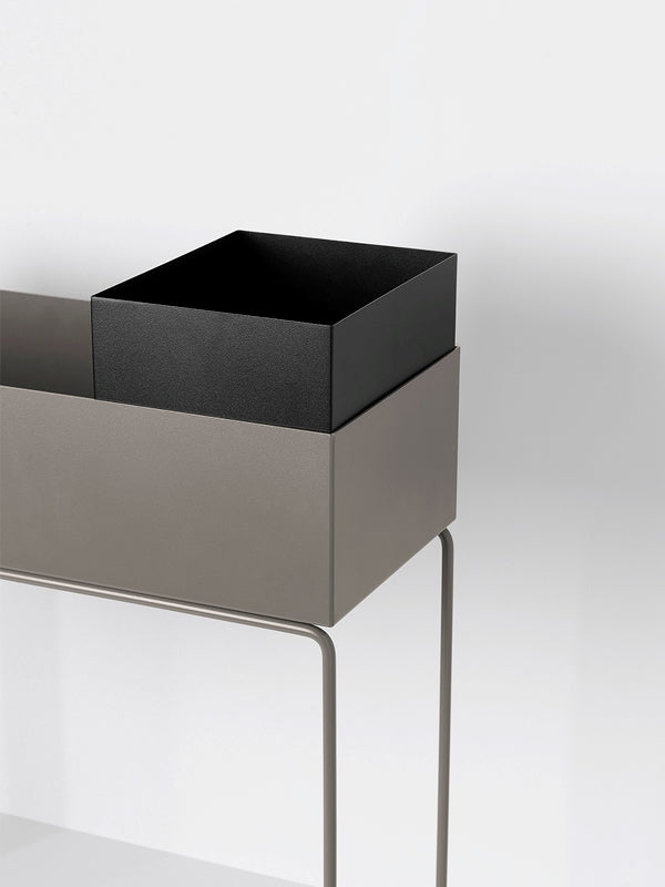 Plant Box Pot in Black by Ferm Living
