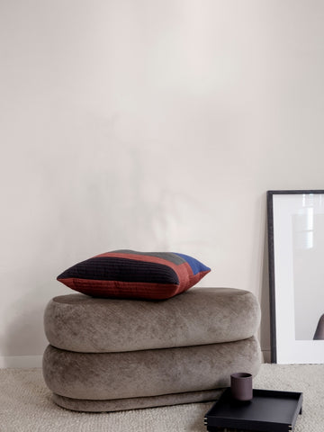Medium Oval Pouf in Beige by Ferm Living