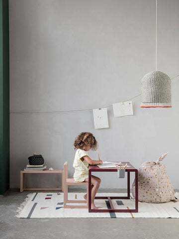 Little Architect Table in Bordeaux by Ferm Living