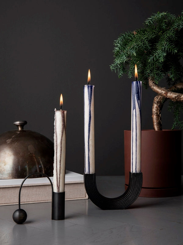 Balance Candle Holder in Black by Ferm Living