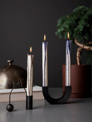 Balance Candle Holder in Black design by Ferm Living