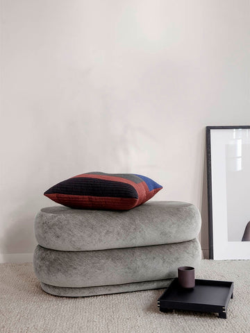 Medium Oval Pouf in Concrete by Ferm Living