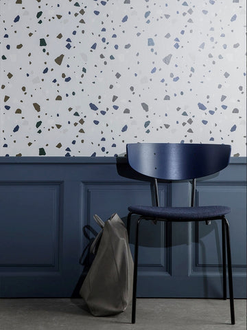 Terrazzo Wallpaper in Grey by Ferm Living