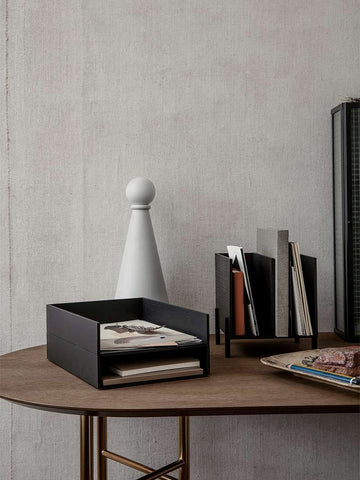 Letter Tray in Dark Stained Ash Black by Ferm Living