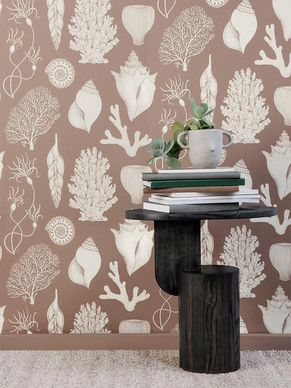 Katie Scott Wallpaper in Shells Rose by Ferm Living