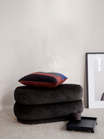 Medium Oval Pouf in Mokka by Ferm Living
