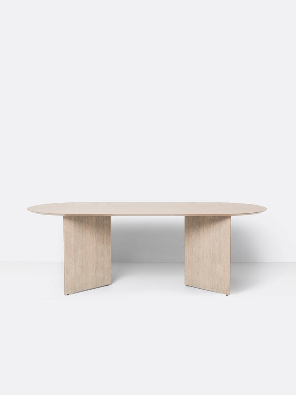 Oval Mingle Table Top in Natural Veneer 220 cm by Ferm Living