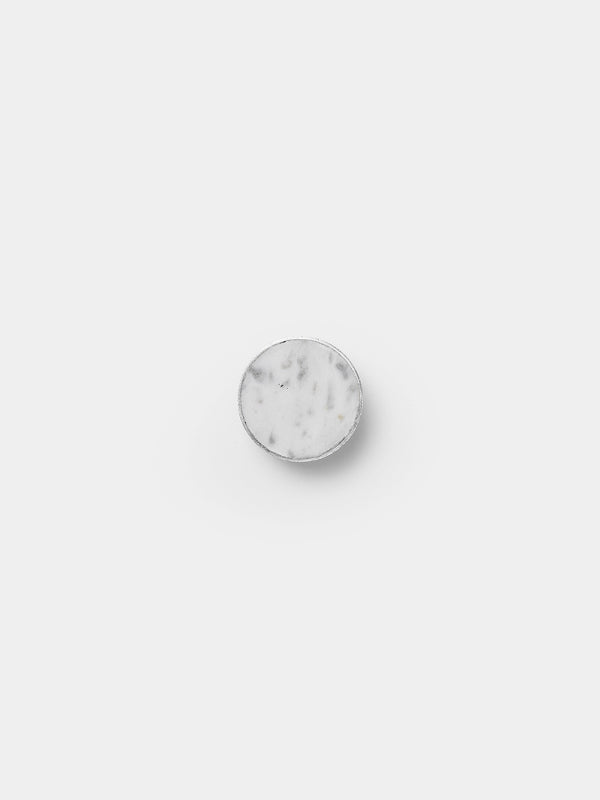 Large Steel Hook in White Marble by Ferm Living