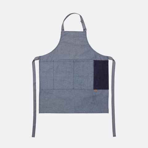 Denim Full Apron in Blue by Ferm Living