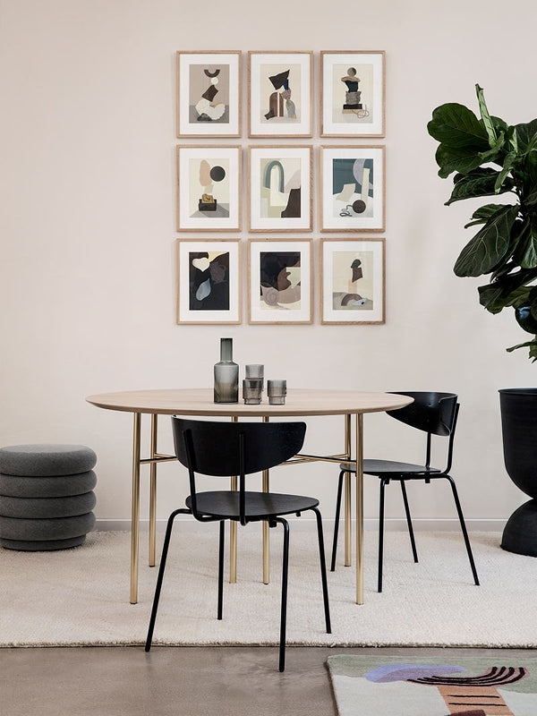 Round Mingle Table Top in Natural Veneer 130 cm by Ferm Living