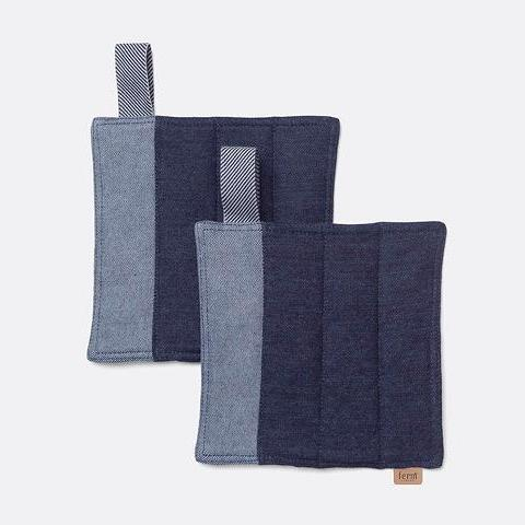 Denim Pot Holders in Blue by Ferm Living