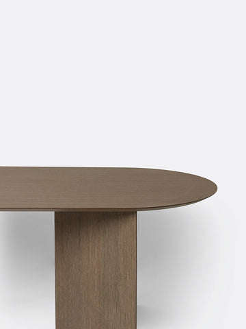 Oval Mingle Table Top in Dark Veneer 220 cm by Ferm Living