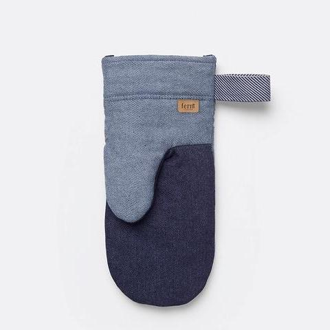 Denim Oven Mitt in Blue by Ferm Living