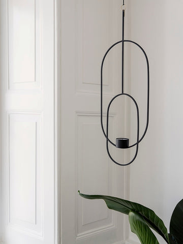 Oval Hanging Tealight Deco in Black design by Ferm Living