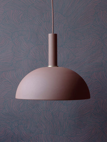 Coral Wallpaper in Bordeaux & Dark Blue by Ferm Living