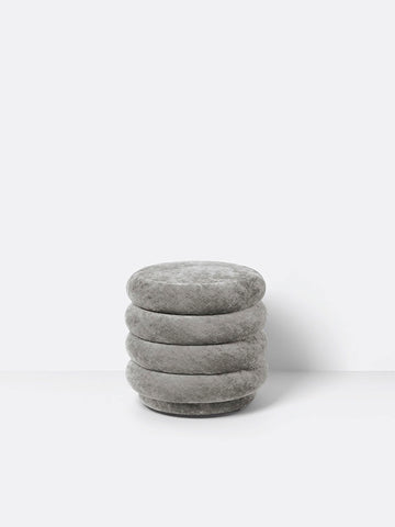 Small Round Pouf in Concrete by Ferm Living