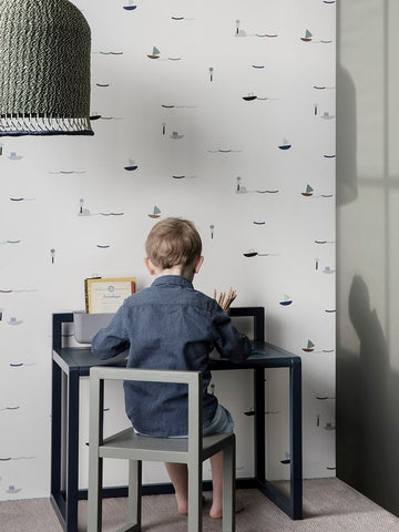 Little Architect Desk in Dark Blue design by Ferm Living