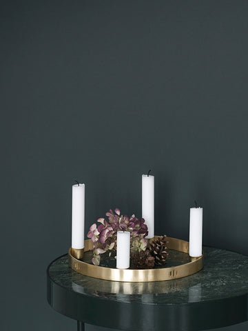 Small Candle Holder Circle design by Ferm Living
