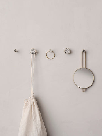 White Marble Hook in Various Sizes design by Ferm Living