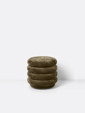 Small Round Pouf in Forest by Ferm Living