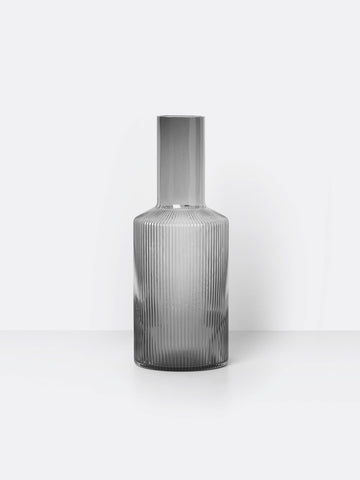 Ripple Carafe in Smoked Grey by Ferm Living