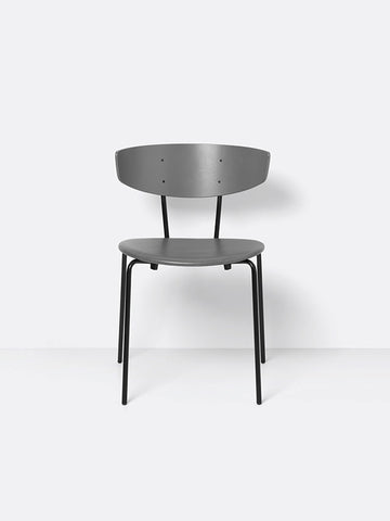 Herman Chair in Warm Grey/Grey Leather by Ferm Living