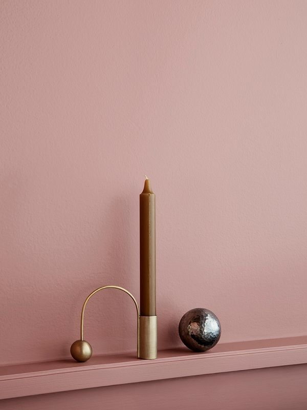 Balance Candle Holder in Brass by Ferm Living