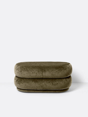 Medium Oval Pouf in Forest by Ferm Living