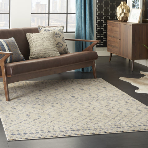 Palermo Rug in Beige Blue by Nourison