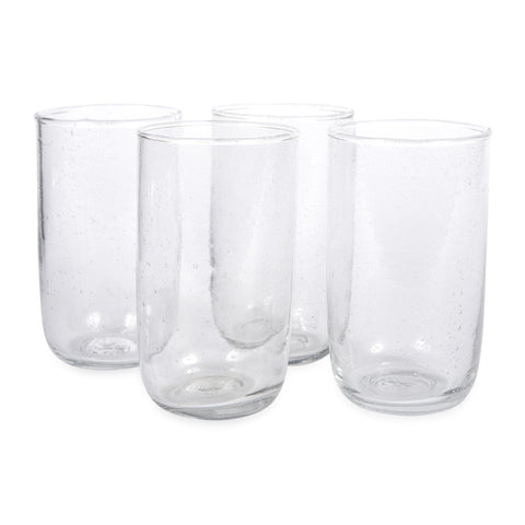 Set of 4 Seeded Glassware Tall Glasses design by Sir/Madam