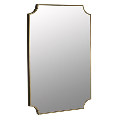 Convexed Mirror in Metal Antique Brass by Noir
