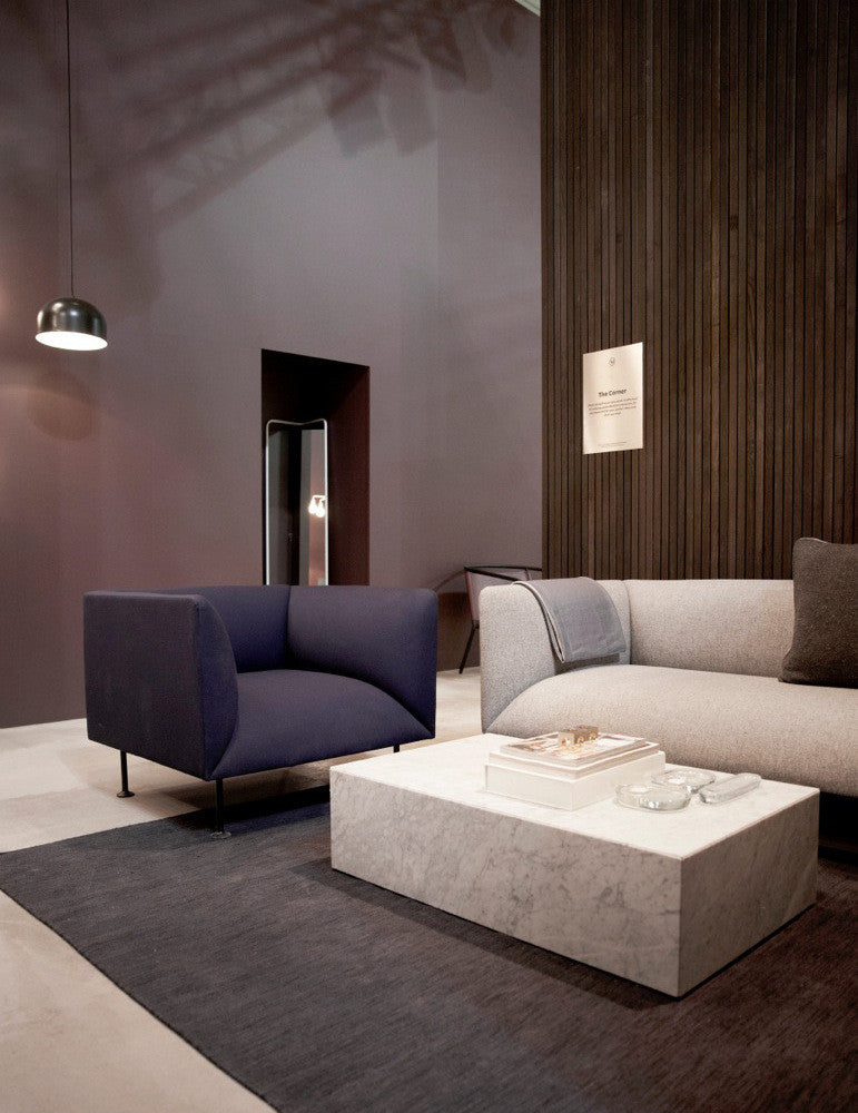 Godot 3-Seater Sofa in Dark Grey design by Menu