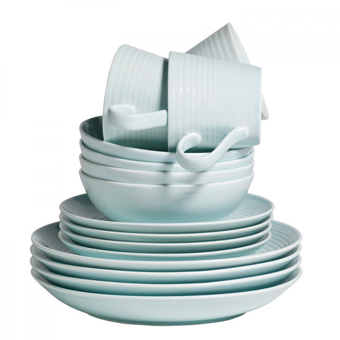 Maze Blue 16-Piece Set by Gordon Ramsay