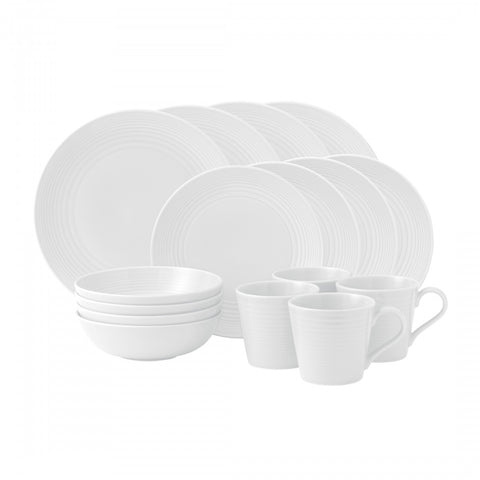 Maze White 16-Piece Set by Gordon Ramsay