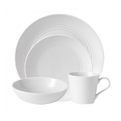 Maze White 4-Piece Place Setting by Gordon Ramsay