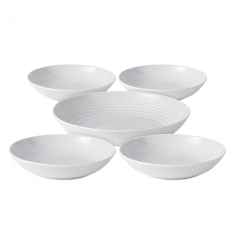 Maze White 5-Piece Pasta Set design by Gordon Ramsay