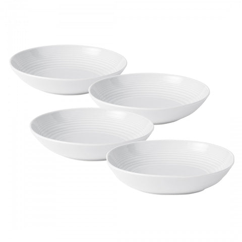 Maze White Pasta Bowl, Set of 4 by Gordon Ramsay
