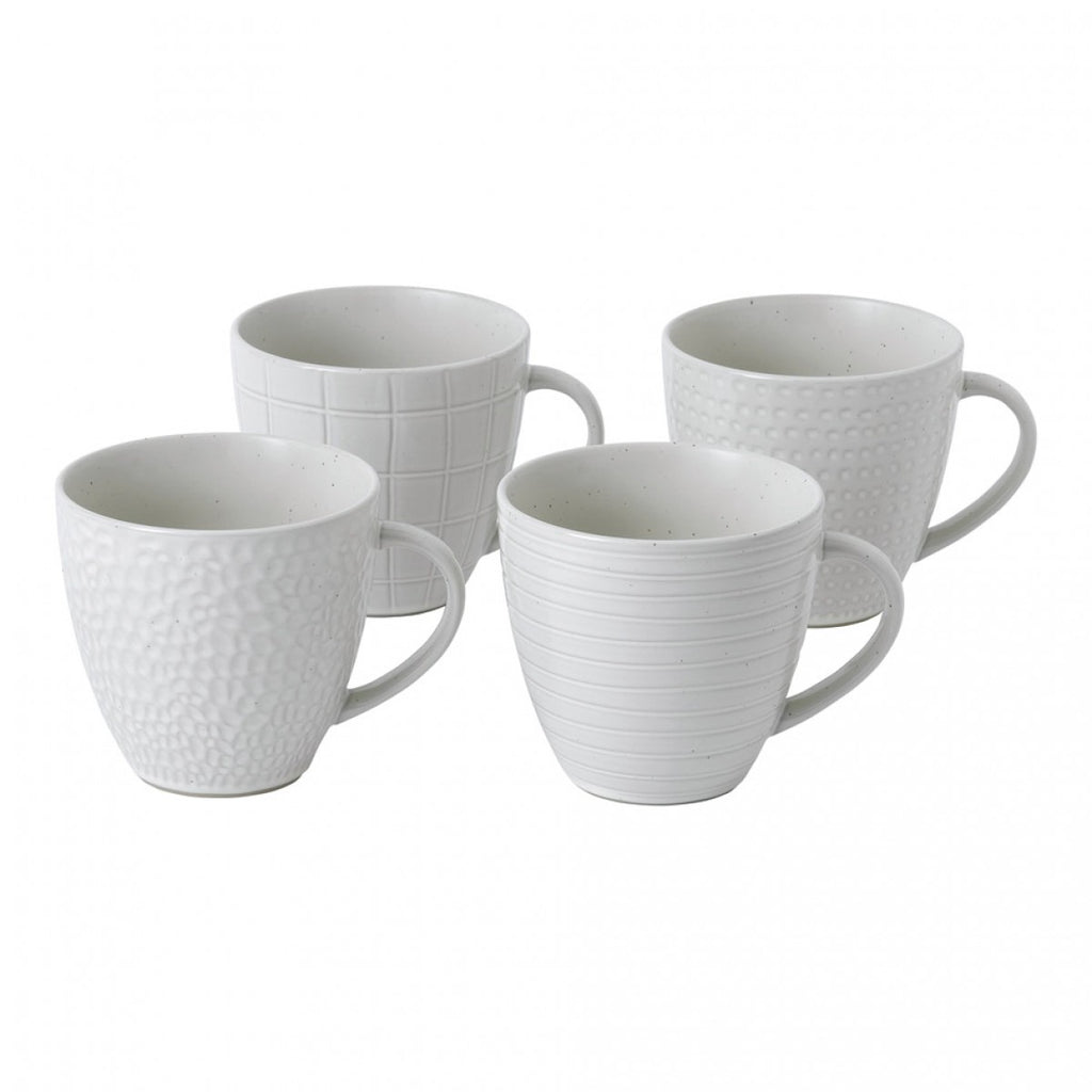 Maze Grill Mixed White Mug, Set of 4 by Gordon Ramsay