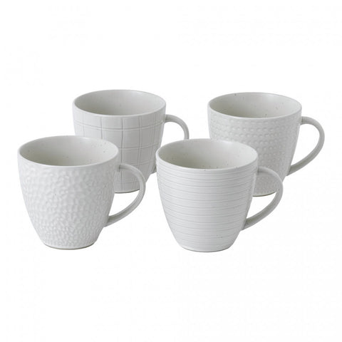 Maze Grill Mixed White Mug, Set of 4 design by Gordon Ramsay