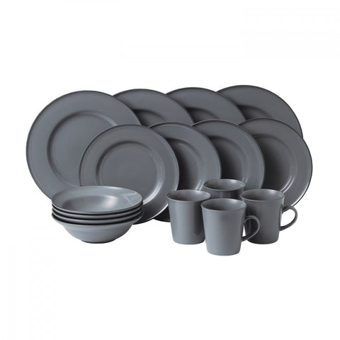 Union Street Café Grey 16- Piece Set by Gordon Ramsay