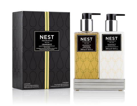 Grapefruit Liquid Soap and Hand Lotion Gift Set design by Nest Fragrances