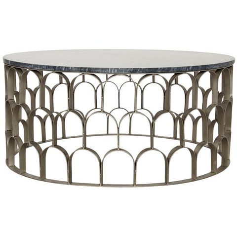 Mina Coffee Table in Antique Silver by Noir
