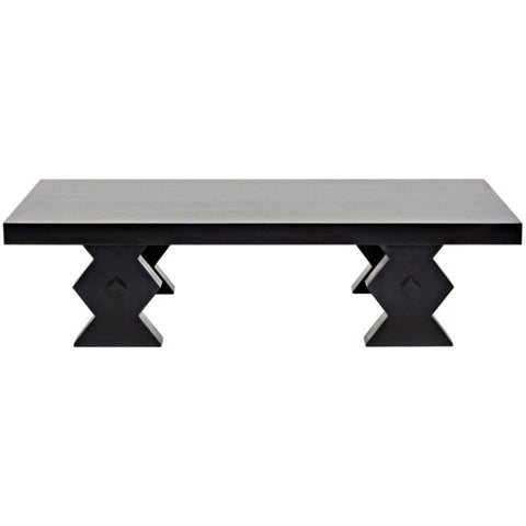 Suzu Coffee Table in Hand Rubbed Black by Noir