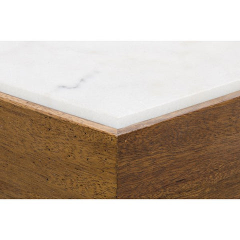 Amsterdam Coffee Table in Walnut & Quartz by Noir
