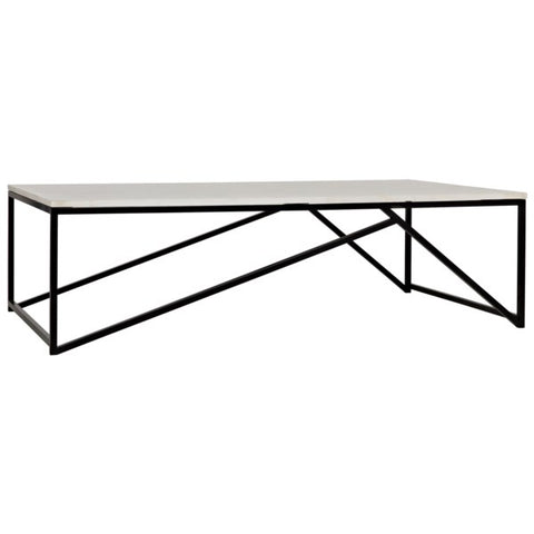 Molimo Coffee Table w/ Black Metal by Noir