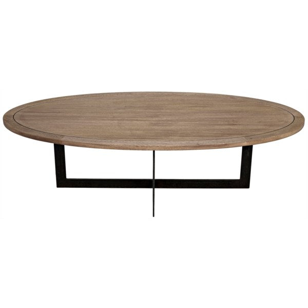Gauge Coffee Table in Metal & Washed Walnut by Noir