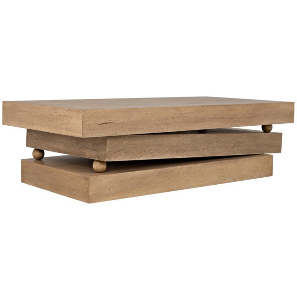 Ramos Coffee Table in Washed Walnut