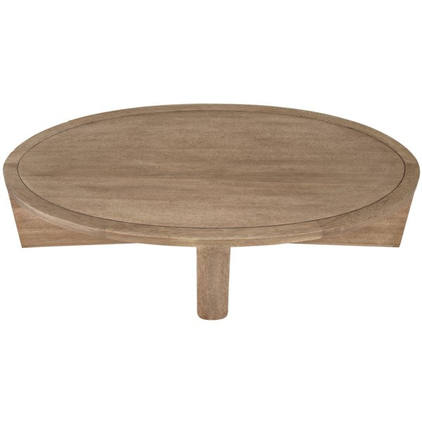 Bast Coffee Table in Washed Walnut by Noir