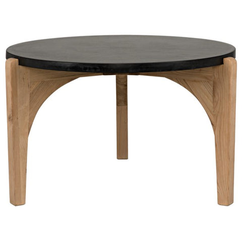 Confucius Coffee Table w/ Black Marble Top by Noir